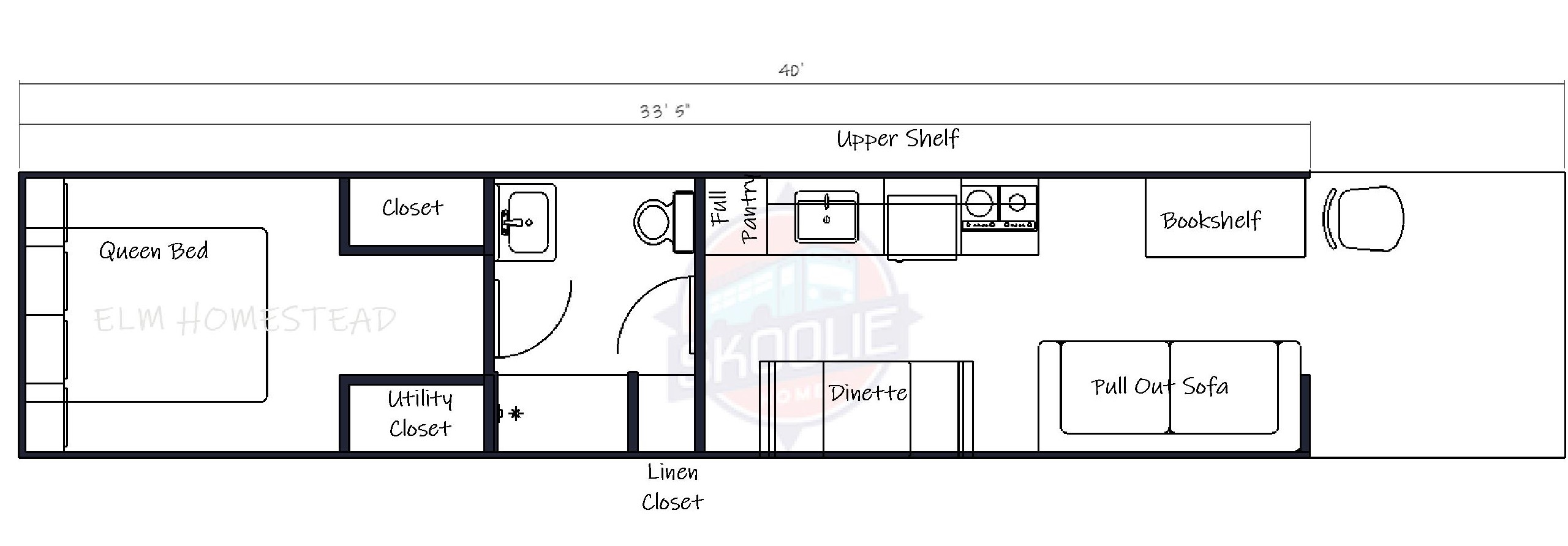 40 foot bus conversion floor plan