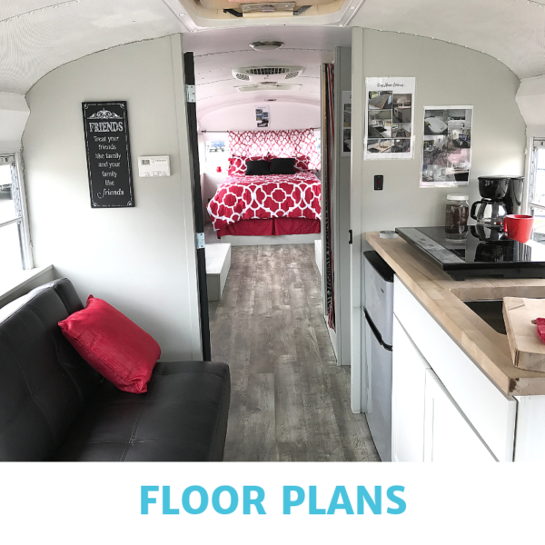 floor plans for skoolie bus conversion