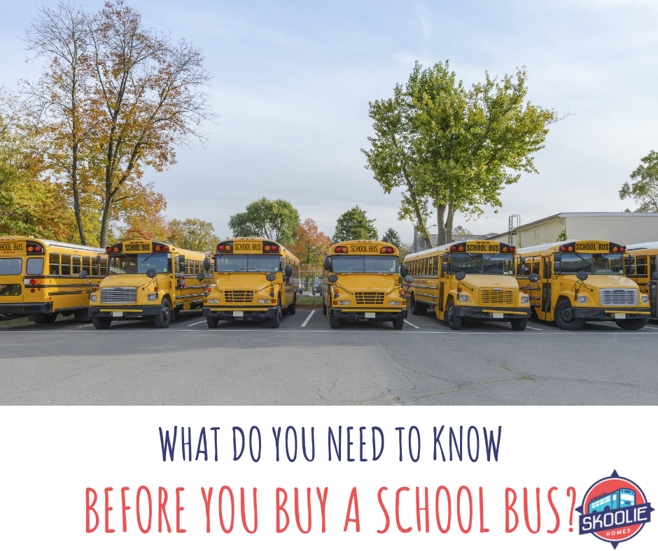 What do you need to know before you buy a school bus?