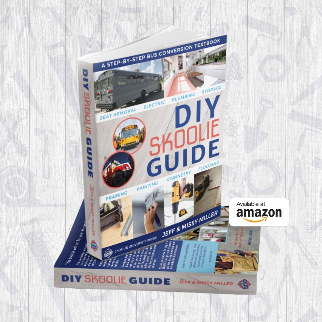 Get The DIY Skoolie Guide on Amazon
